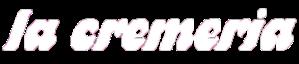 Logo la cremeria weiß